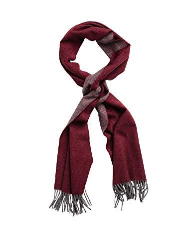 GANT Herren Schal Wollschal Two Faced Twill Scarf aus Wolle in Rot/Grau