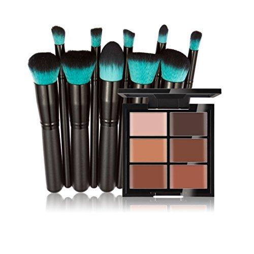 FantasyDay® 6 Couleurs de Maquillage Crème Correcteur Concealer Contour Palette Fond de Teint Cosmétique Anti-cernes Mettez en Surbrillance Camouflage Palette + 10PCS Pinceaux de Maquillage #3