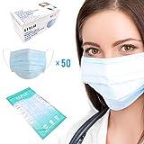 STYLIO Ply Face Mask. Design ergonomico dell'elastico dell'orecchio. Filtrazione protettiva a 3 strati. Ipoallergenico. 50 pezzi per scatola