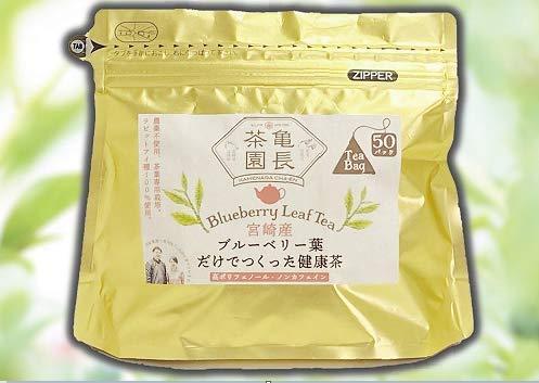 宮崎産ブルーベリー葉だけでつくった健康茶 農薬不使用 ラピッドアイ種100%使用 (100g(2g×50包))