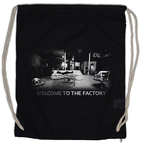 Urban Backwoods Welcome TO The Factory Bolsa de Cuerdas con Cordón Gimnasio...