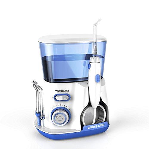 Irrigador Oral Fio Dental Waterpulse V300 Bivolt Limpeza profunda dentes combate gengivite 10 níveis pressão Potente, capacidade 800ml
