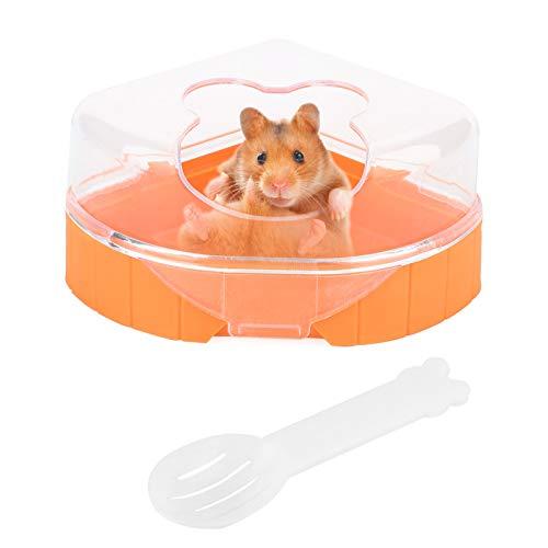 HelloCreate Hámster Pet Baño, Triángulo de plástico Bañera de un solo puerto Hamster Sand Bath House Sauna WC para mascotas pequeñas Gerbils Mouse