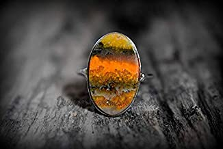 NATURAL BUMBLE BEE JASPER RING SOLID 925 STERLING SILVER RING HANDMADE RING JASPER RING GEMSTONE RING