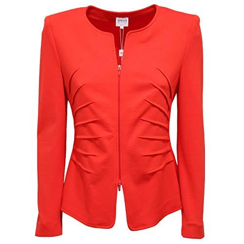 1464AA Giacca Donna Armani Collezioni Blazer Full Zip red Jacket Woman [44]