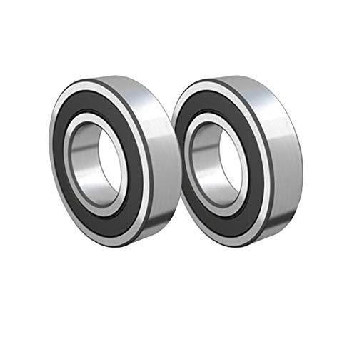2 piezas 6205-2RS rodamientos de doble sello de goma 0.984x2.047x0.591in rodamiento de bolas profundo del surco