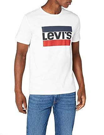 Levi's Sportswear Logo Graphic - Camiseta para Hombre, Blanco (84 Sportswear Logo White 0000), Medium