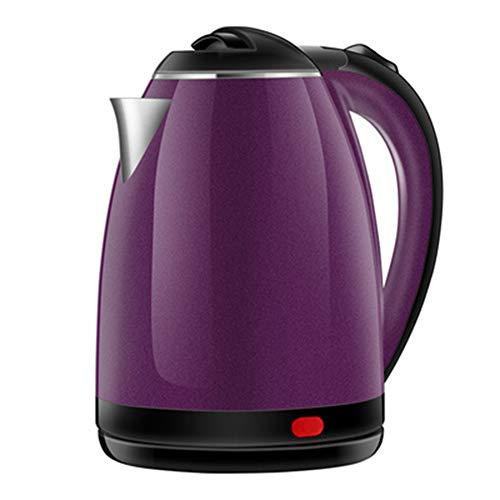 1.8 Liter Wasserkocher Edelstahl, Automatische Abschaltung Durch BPA Frei, ÜBerhitzungsschutz, Trockenlaufschutz, 1500W Temperaturauswahl, Abschaltautomatik, Warmhaltefunktion,Purple
