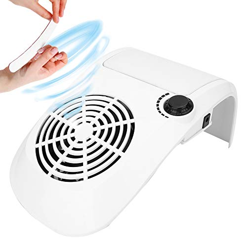 Aspirapolvere per unghie 40W, macchina per raccolta polvere Aspirapolvere Strumento per manicure per nail art con forte potere Nail Nail Salon Aspirapolvere per gel UV Nail Aspirapolvere (EU)