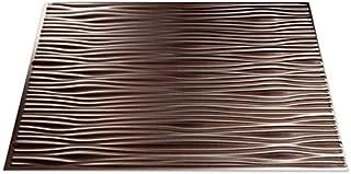 Fasade Easy Installation Waves Brushed Nickel Backsplash Panel for Kitchen and Bathrooms (18