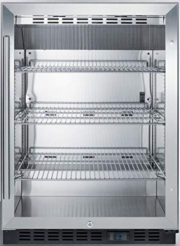Summit SCR610BL Undercounter Beverage Refrigerator, Glass/Black