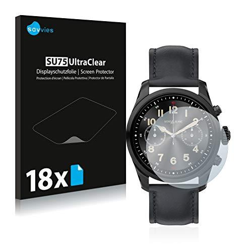 Savvies 18x Schutzfolie kompatibel mit Montblanc Summit 2 Bildschirmschutz-Folie Ultra-transparent