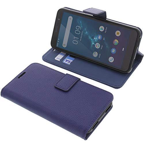 foto-kontor Tasche für Hafury A7 Book Style blau Schutz Hülle Buch