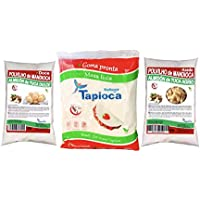 POLVILHO DOCE 1 /AZEDO 1 / TAPIOCA ja Hidratada 1, 500g(pack combinado)
