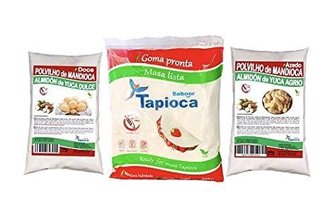 POLVILHO DOCE 1 /AZEDO 1 / TAPIOCA Hidratada 1 (pack combinado de 500g cada)