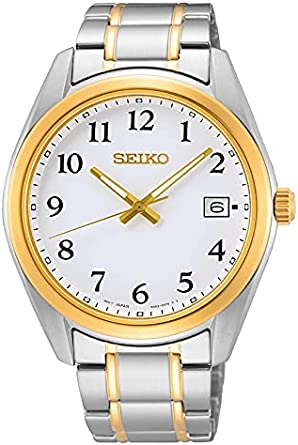 Seiko Reloj Analógico para Hombre de Cuarzo con Correa en Metal SUR460P1