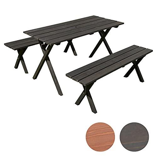 木製ガーデンテーブルセット ダークブラウン TAN-952