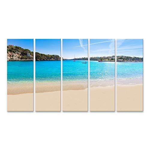 Cuadro en lienzo La playa de Mallorca Porto Cristo en Manacor de Mallorca Isla Balear en España Cuadros Modernos Decoracion Impresión Salon