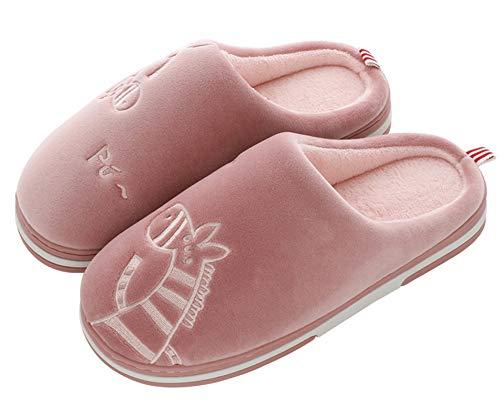CELANDA Zapatillas de Casa para Mujer Hombre Cálido Zapatos de Estar Otoño Invierno Interior Casa Slippers Suave Algodón Zapat