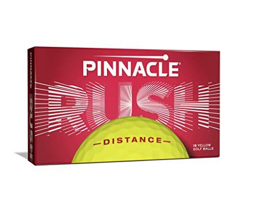 Pinnacle Rush Distance Golfbälle, Gelb, 3-/15-Stück (15 STK, Gelb)
