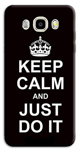 Mixroom - Cover Custodia Case in TPU Silicone Morbida per Samsung Galaxy J5 J510 (Edizione 2016) Fantasia Keep Calm And Just do it N1036