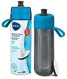 Botella filtrante BRITA Active Azul - Filtro TecnologíaMicroDisc, Óptimo sabor para di...