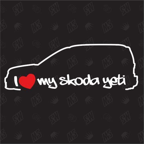 speedwerk-motorwear I Love My Yeti - Sticker für Skoda BJ. 09-13, 5L