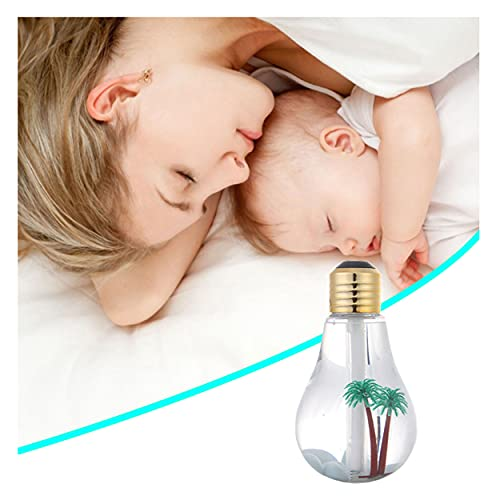 Mini Portable Bulb Air Humidifier, Small Humidifier, With 7-Color Led Night Light, Usb Silent Air Atomizer, Relieve Dry Air, Moisturize Skin, Suitable For Family Bedroom, Office, Car (gold)
