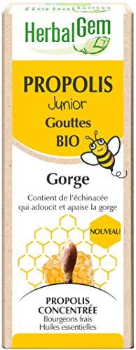 HerbalGem - Propolis Junior Gouttes Bio - Dès les Premiers Signes du Refroidissement - 15 ml