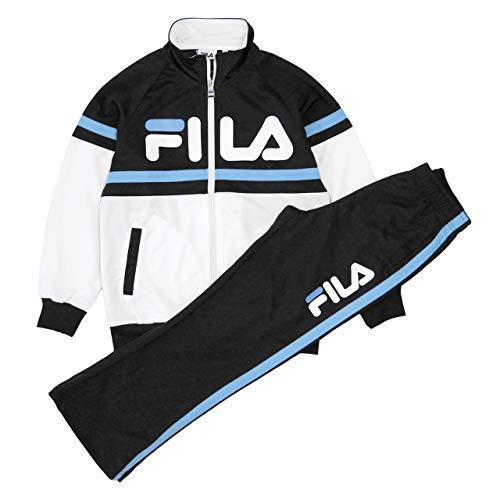 FILA(フィラ) ジャージ 上下セット ジュニア キッズ 女の子 トレーニングウェア J8701 ブラック 130cm