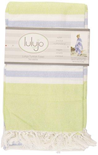Lulujo handdoek voor baby's, turquoise 1 Limettengrün/Blau