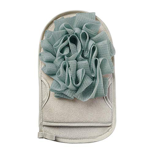 1pc draagbare home Wisp scrub spons voor het schoonmaken scrubber dubbele douche handschoenen kanten van de bal body massage douche borstel handdoek,blauw grijs