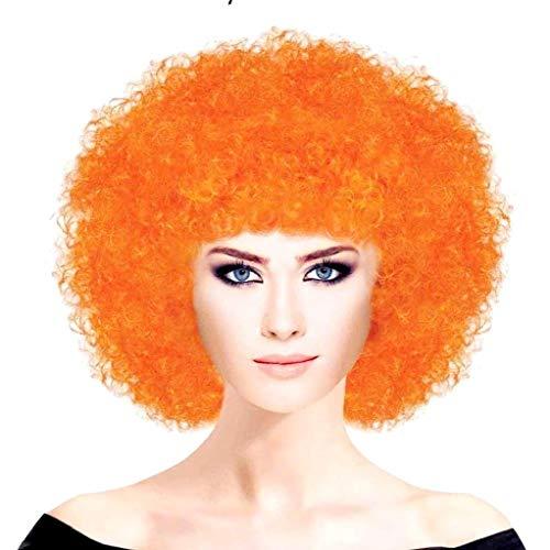 EVRYLON Peluca de Payaso Adulto Carnaval Unisex Color Naranja ...