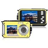 Appareil Photo numérique, Appareil Photo plongée étanche Full HD 1080p enregistreur vidéo de 24MP Selfie Double Enregistrement Caméra DV