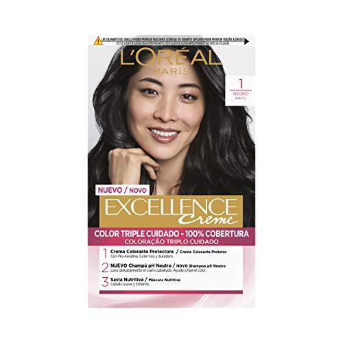 L'Oréal Paris Excellence Coloración Crème Triple Protección 1 Negro
