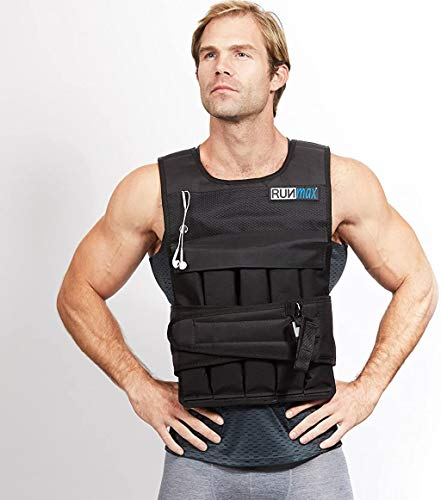 RUNmax 12Lbs-140Lbs Weighted Vest Without Shoulder Pads, 60 lb