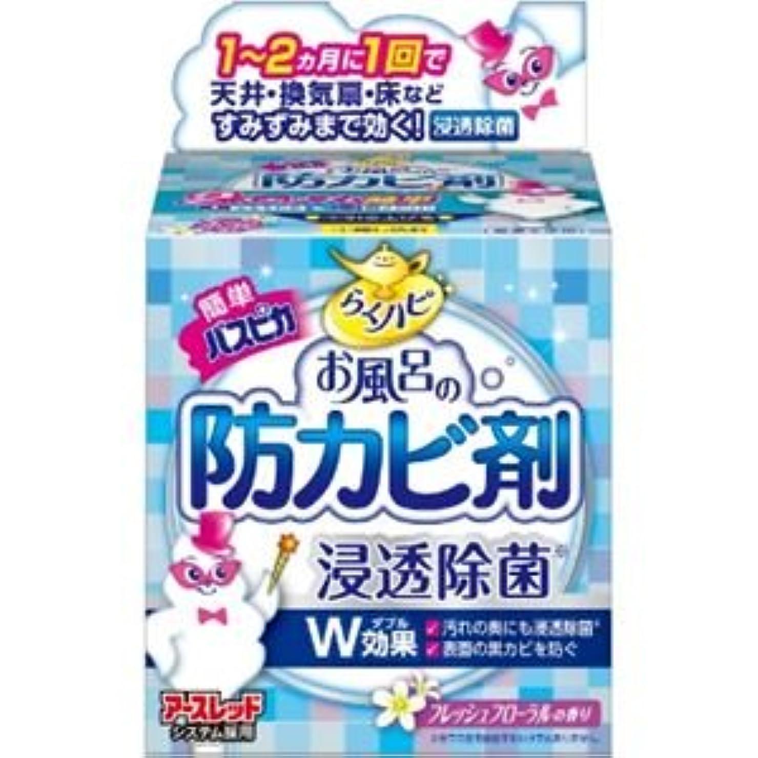 奇跡寛容かもしれない(まとめ)アース製薬 らくハピお風呂の防カビ剤フローラルの香り 【×3点セット】