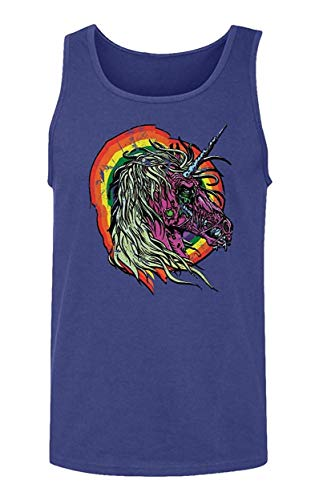 Hoyoiun Hombres Zombie Unicornio Rainbow Horse Fashion Print Camiseta sin Mangas sin Mangas