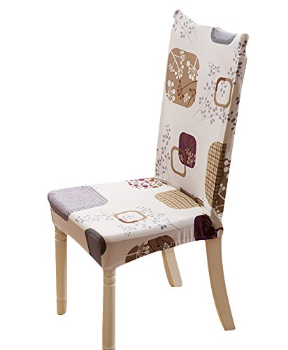 Sk Stuido 4 Piece Stretch Removable Protector Flower Printed Dining Room Chair Elegant Covers Seat Slipcovers