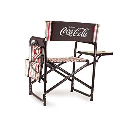 PICNIC TIME Silla de Deporte Plegable portátil, Coca Cola Collection-Moka