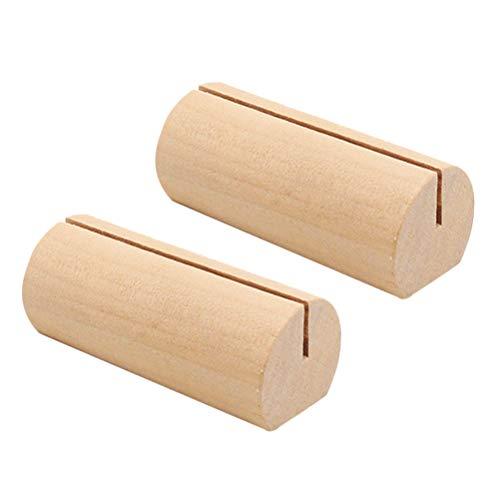 TOYANDONA Ständer aus Holz, für Fotokarten, Tisch, Restaurant, Hochzeit, 10 Stück