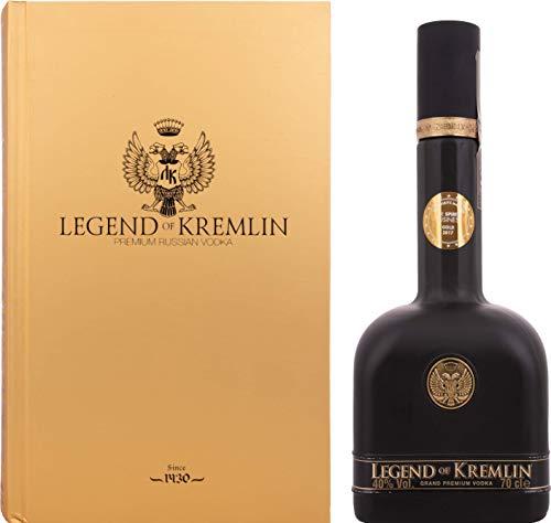 Legend of Kremlin Legend of Kremlin Premium Russian Vodka BLACK BOTTLE-GOLD BOOK 40% Vol. 0,7l in Giftbox - 700 ml