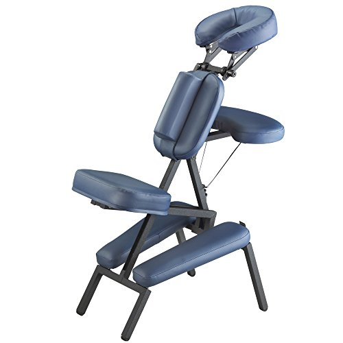 Master Massage Professional Portable Massage Chair in Blue