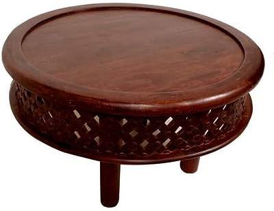 5053ebfc170b Amazon.com  Festnight Round Coffee Table Reclaimed Wood End Side ...
