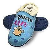 Zapatillas de casa Te Quiero un Huevo Azul Talla 41