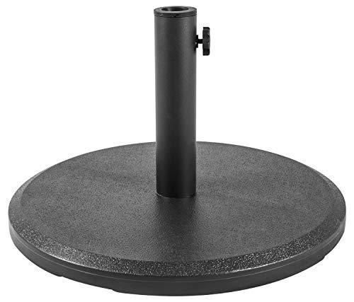 Woodside Black 13kg Garden Patio Cantilever Parasol Umbrella Base Weight Stand
