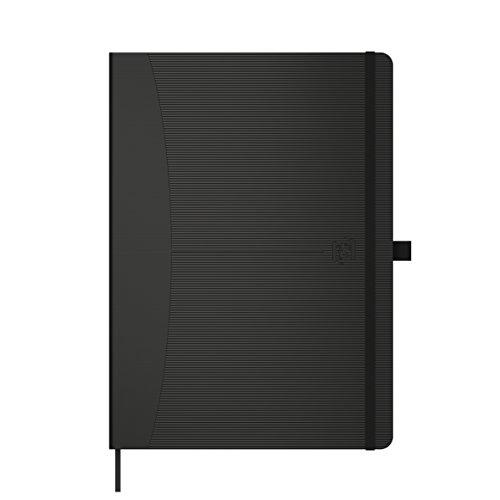 Oxford Signature Cuaderno Cosido A5, Tapa Extradura, Páginas Lisas, 80 Hojas, Color Negro