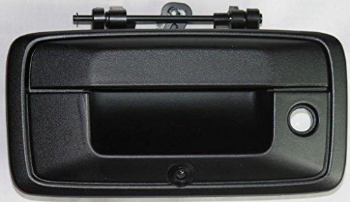 PYvideo - Cámara de Seguridad con Mango de Puerta Trasera para Chevy Silverado/GMC Sierra (2014-2015) para monitores universales (RCA)