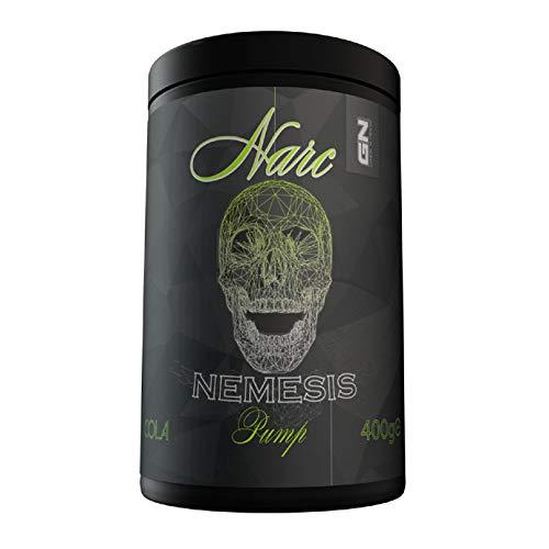 G N Laboratories NARC NEMESIS PUMP Pre Workout Booster, 400 g Dose, Green Apple