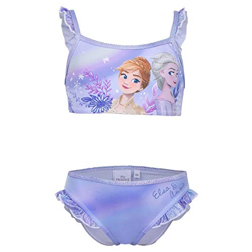 Frozen Movie Disney – Mädchen – Bikini-Kostüm, 2-teilig, offizielles Lizenzprodukt, Blau 4 Jahre